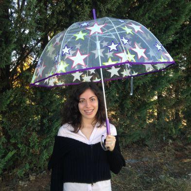 Paraguas cúpula noche estrellada