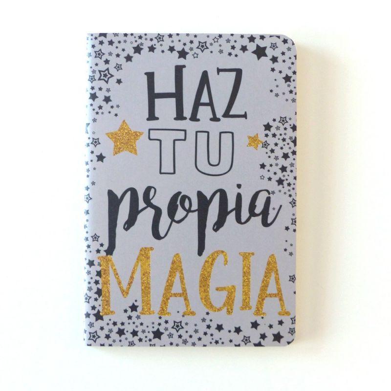 """Libreta con la frase """"Haz tu propia MAGIA"""""""