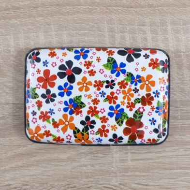 Tarjetero flores de colores