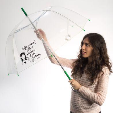 ¡Sufrir es plancharse el pelo y que llueva! - Paraguas transparente