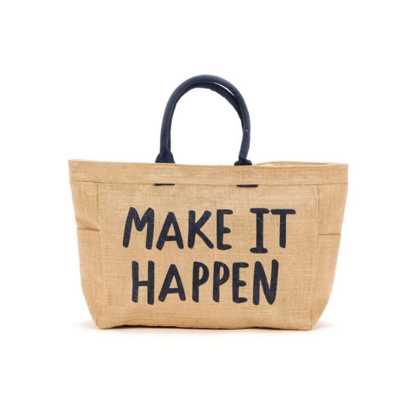 Bolso playa con frase: Make it Happen