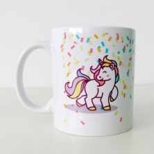 Taza unicornio y frase sonríe, hoy será un día perfecto