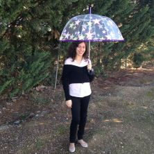 paraguas transparente grande