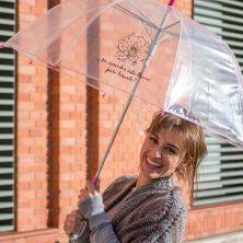 Paraguas Transparente ¿Me concedes esta lluvia para besarte?