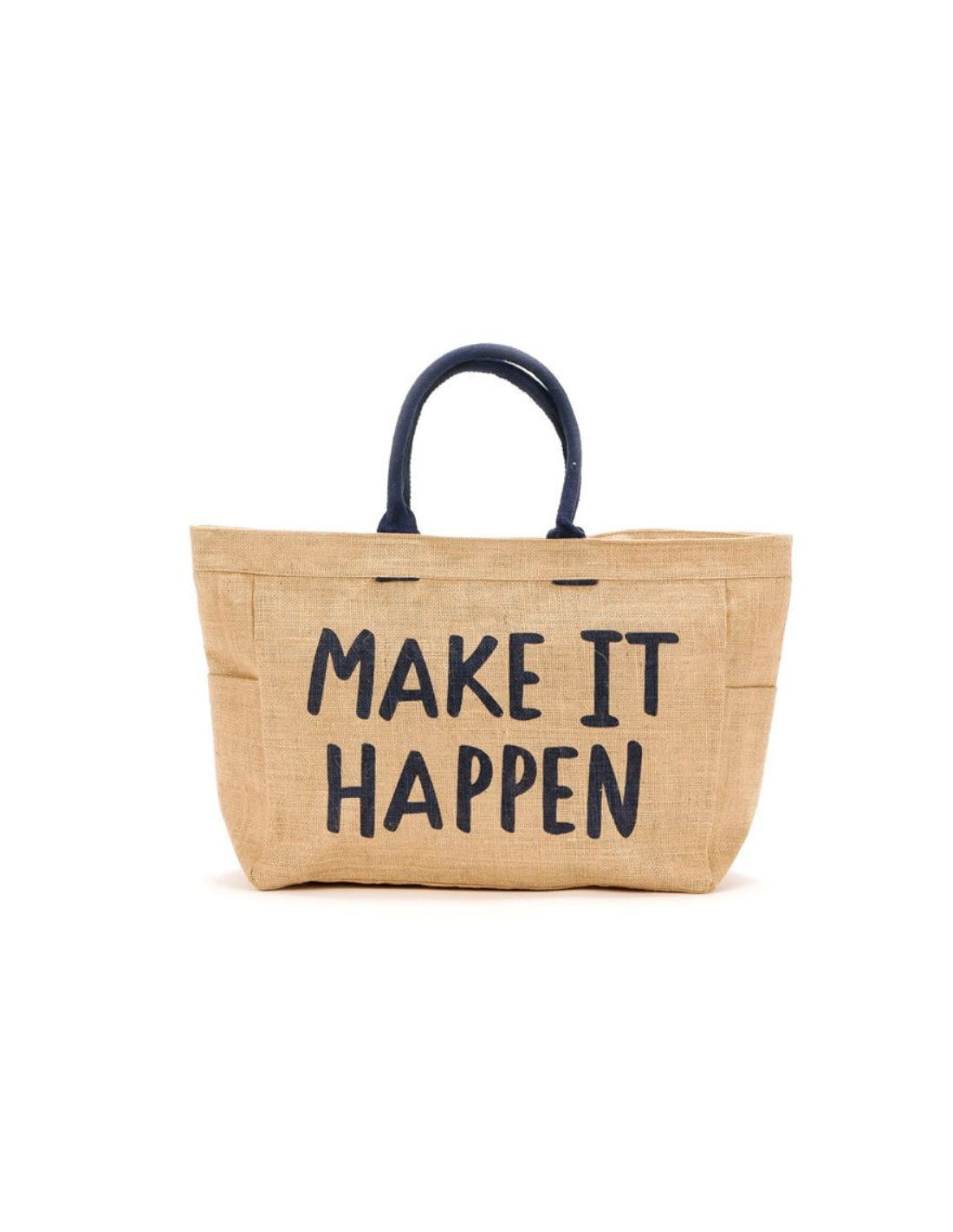 Bolso playa con frase: Make it Happen