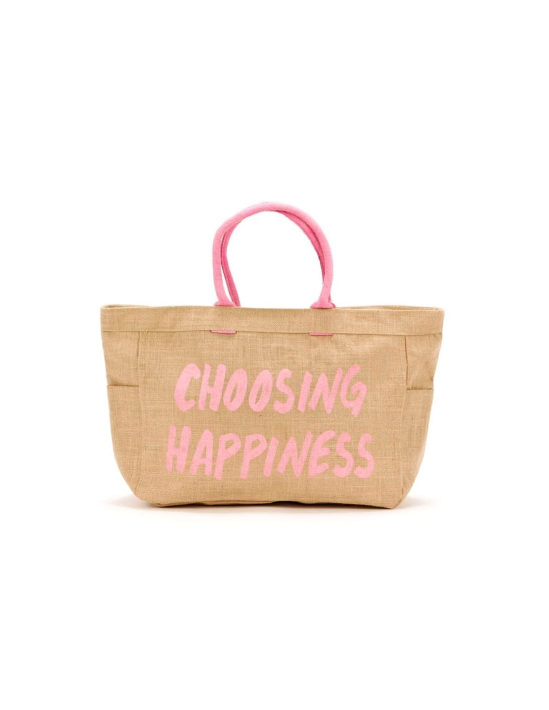 Bolso playa con frase: Choosing Happiness