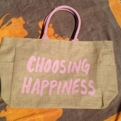 Bolso piscina o playa con frase: Choosing Happiness