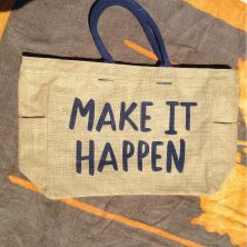 Bolso de playa con frase: Make it Happen
