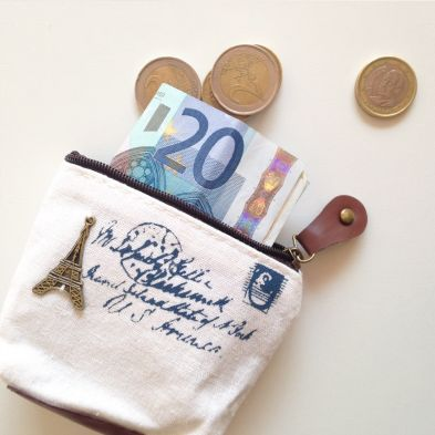 Monedero de tela Torre Eiffel